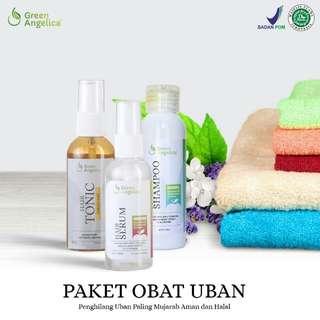Green Angelica Paket Penghitam rambut beruban Permanen aman tanpa efek samping & Penumbuh rambut tipis AMPUH ASLI HALAL BPOM