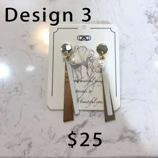 Chic earrings from Taiwan (Listing 2 of 3)