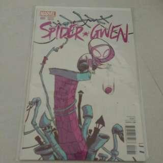 Marvel Spider-gwen comic variant