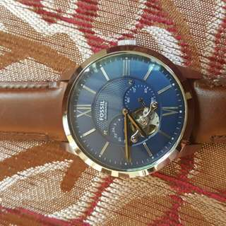 FOSSIL Townsman Automatic Blue Satin Dial Men's Watch