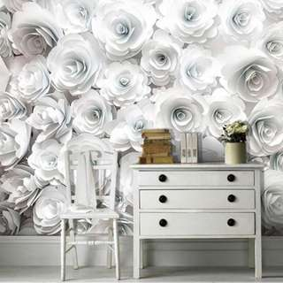 Wallpaper Custom 3D - Motif Flower