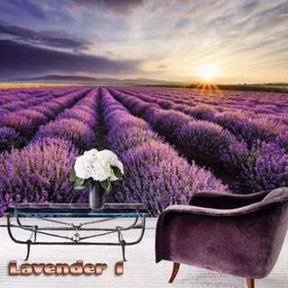 Wallpaper Custom 3D - Motif Lavender