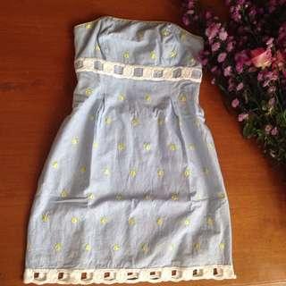 Dress kemben biru