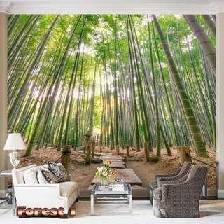Wallpaper Custom 3D - Motif Forest