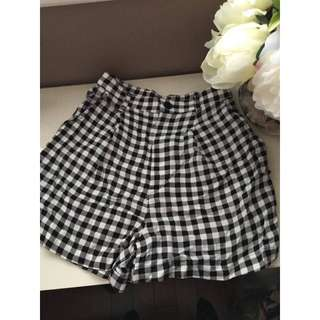 AMERICAN APPAREL | BNWT High Waisted Checked Shorts Size XS
