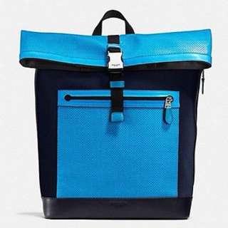 Coach 螢藍背包