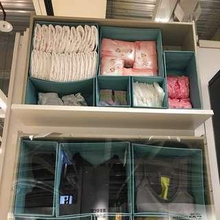 6件衣物收納組合隔間儲物盒 淺藍色❤️喜愛 無印良品風格❤️🔍「居家生活」節省運費超值優惠組合