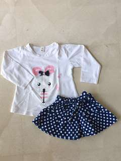 Baby Girl Outfit from Japan 12mos