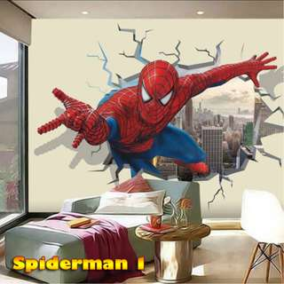 Wallpaper Custom 3D - Motif Anak (Spiderman, Batman)