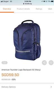 BN American Tourister Laptop Bag /backpack