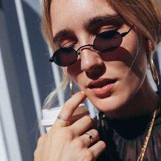 Retro Doris Small Oval Shaped Sunglasses