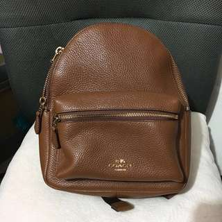 Coach Mini Charlie Backpack in Pebble Leather