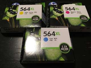 Genuine HP 564XL Printer ink set of 3