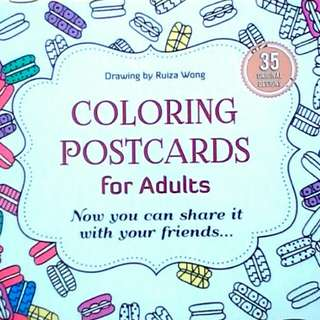 Coloring postcards for adults