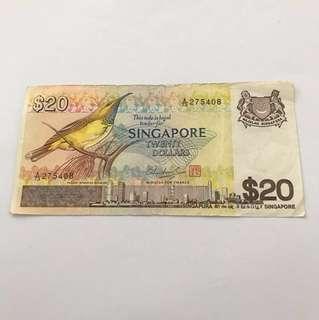 Singapore $20 Bird Series