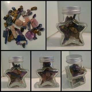 mixed HEALING CRYSTALS blue purple pink STAR gemstones