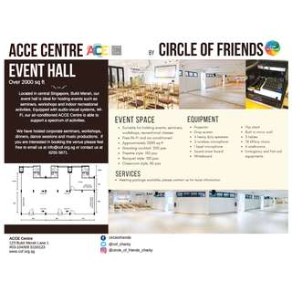 Event Hall Booking - ACCE Centre