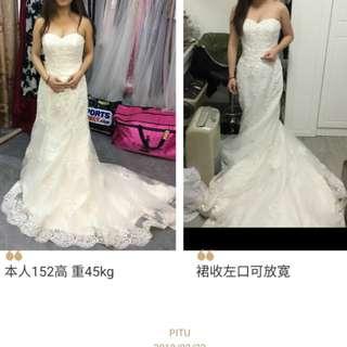 非淘寶貨 香港婚紗店購入 (新淨)