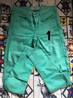 Topshop Green Pants