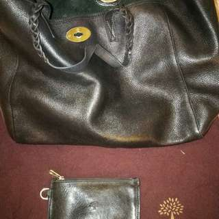 Mulberry Black Leather Tote