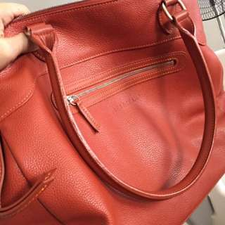 Longchamp all leather bag