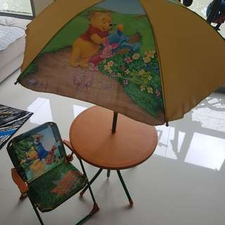 Winnie the pooh beach Table and chair
