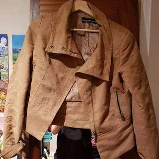 Suede Tan Moto Jacket