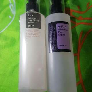 Cosrx Aha serum and pore minimizing  Bundle