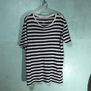 H&M Oversized Striped Shirt