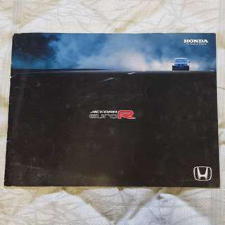 jdm honda accord euro-r euroR type r k20 vtec cl7 cl1 japanese brochure catalogue sales material