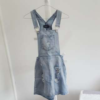 Minkpink denim overall skirt