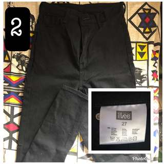 Lee Pipes Black HW Pants
