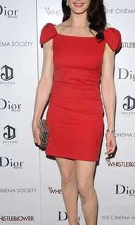 NC2123 Elegant Ribbon Dress (Red,Black)
