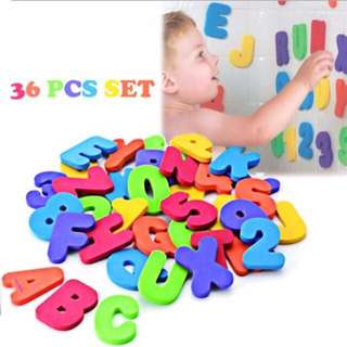 36 pcs bath numbers & letters