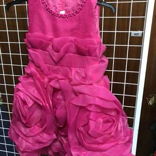Red purple gown for kids