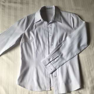 Formal White Button Top