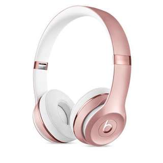 Beats Solo3 Rosegold headphones