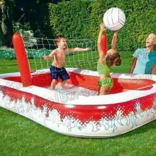 Volleyball inflated pool
