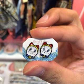 Doraemon earrings