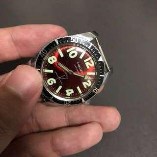 Emkoza vintage skin diver watch