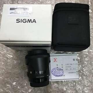 Sigma 35mm F1.4 DG art (公) for canon