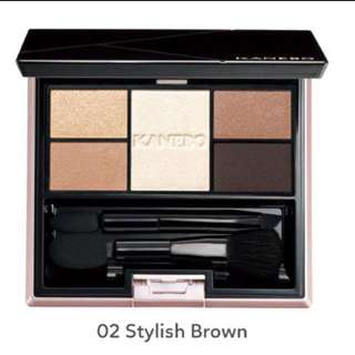 BNIB Kanebo Selection Colors Eyeshadow Palette in 02 Stylish Brown