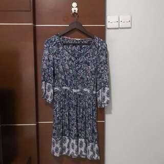 Indigo - Patterned Mini Dress