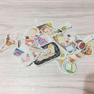 (手帳必備!)27張日本零食手帳貼紙