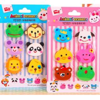 Erasers - 6pcs/set