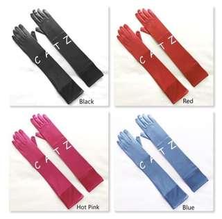 < CATZ > Opera Gloves Satin Gloves Evening Opera Gloves