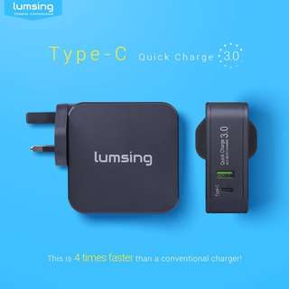48W Quick Charge 3.0 and USB-C Wall Charger / Adapter