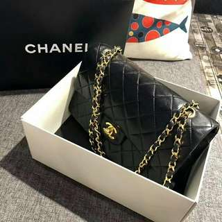 SOLD 賣完 Vintage Chanel 中古黑色2.55 金鏈手袋