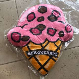 Ben & Jerry ice-cream cone cushion