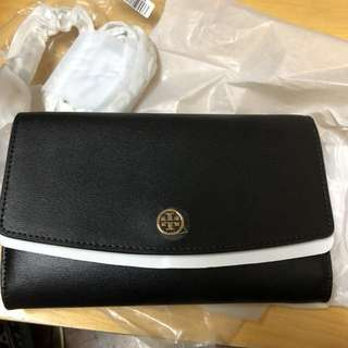 Tory Burch Parker chain wallet black 全新正品